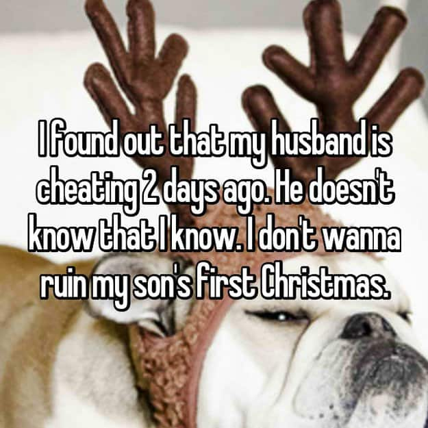 spouse_is_cheating_a_secret_not_to_ruin_first_christmas_of_son