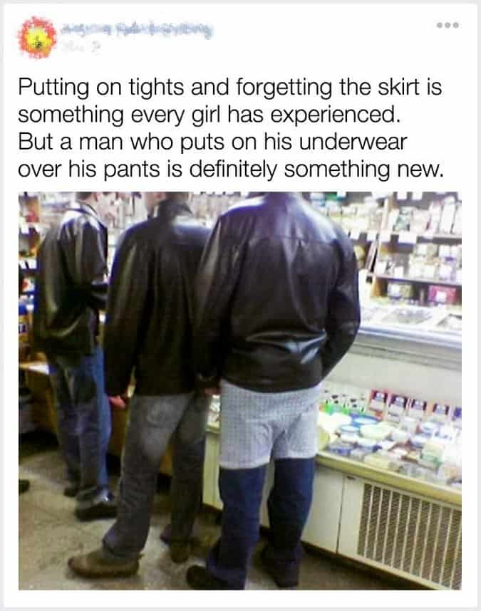 man-puts-underwear-over-his-pants
