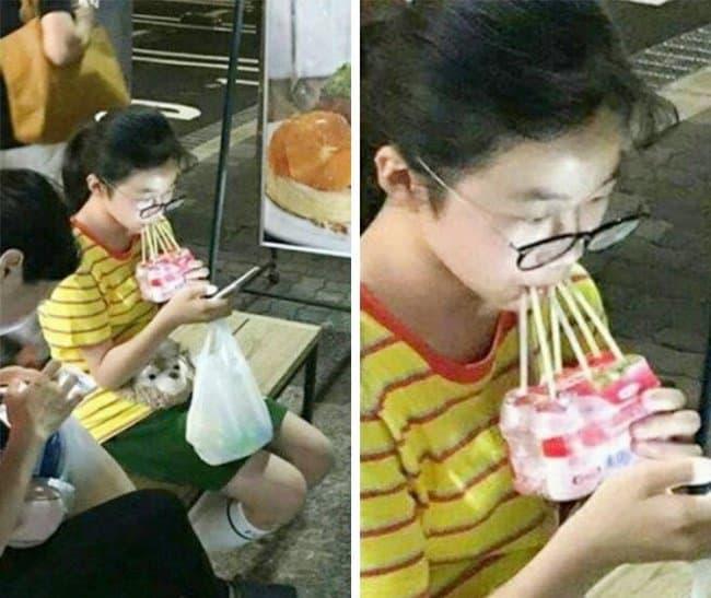 multiple-straw-hilariously-lazy-people
