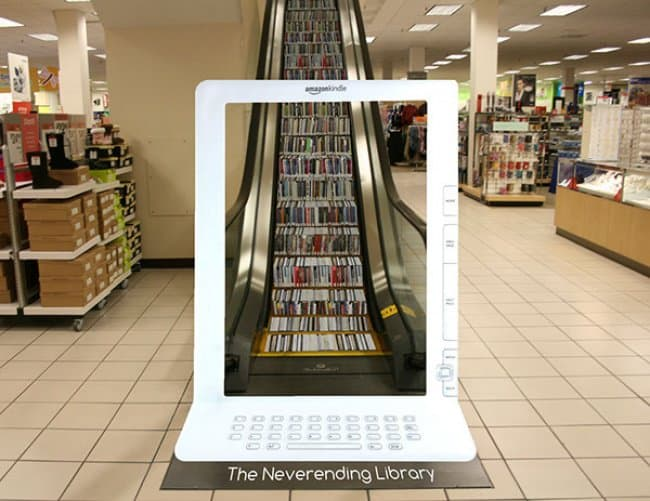 neverending_library_creative_escalator_ads