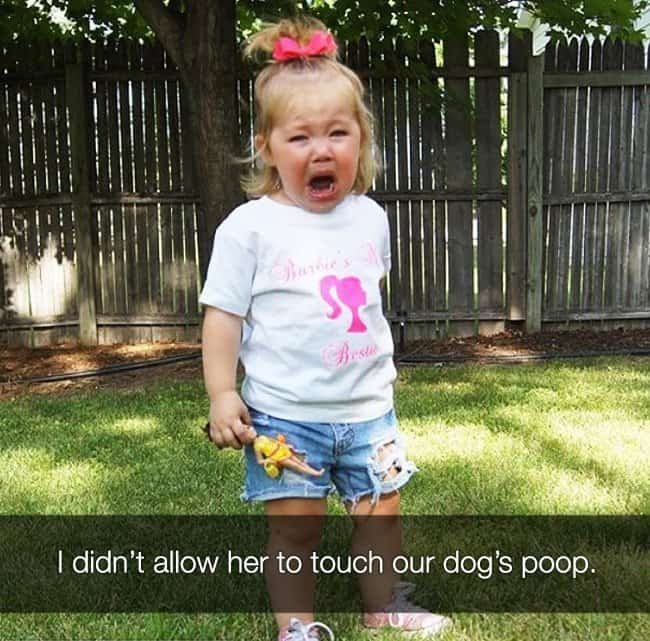 not_allowed_to_touch_dog_poop_kids_crying