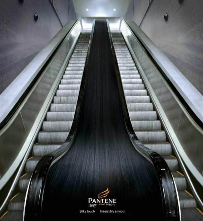 pantene_long_hair_escalator_handrail
