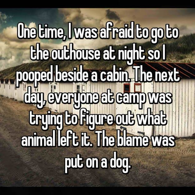 poop-mistaken-left-by-animal-stay-in-a-cabin-in-the-woods