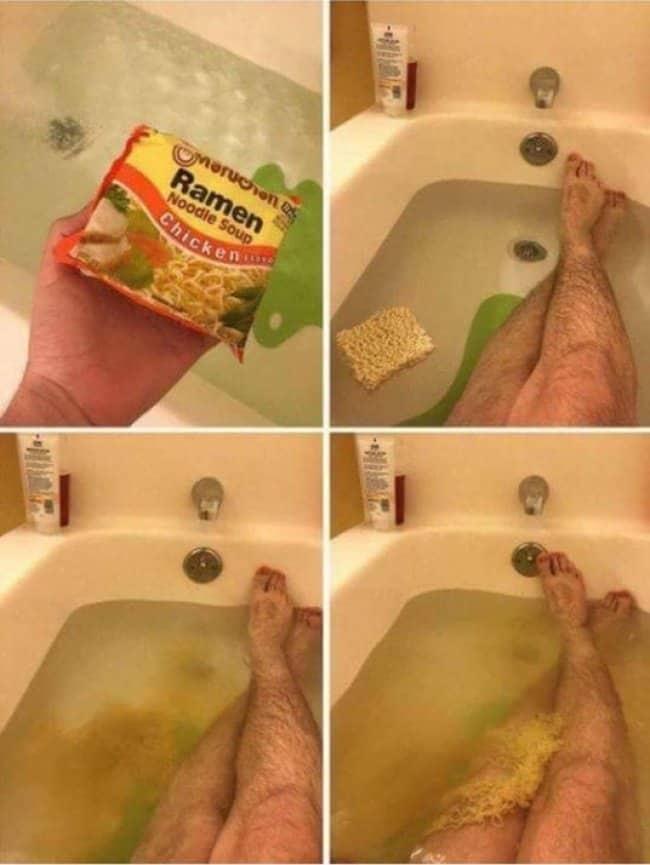ramen-in-bath-tub-creativity-in-hilarious-ways