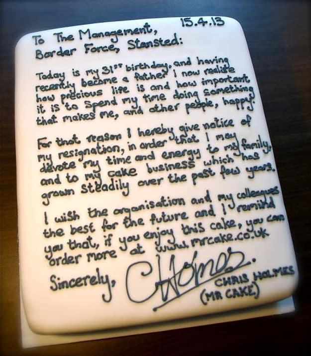 resignation_letter_cake