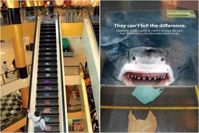 shark_eating_plastic_bags_creative_escalator_ads