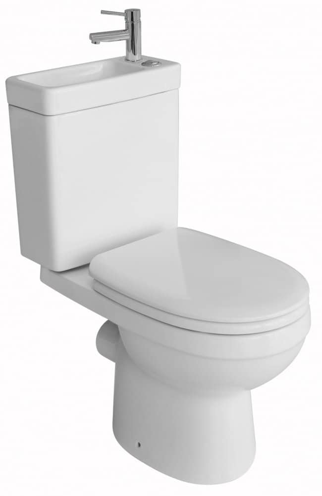 toilet built in sink