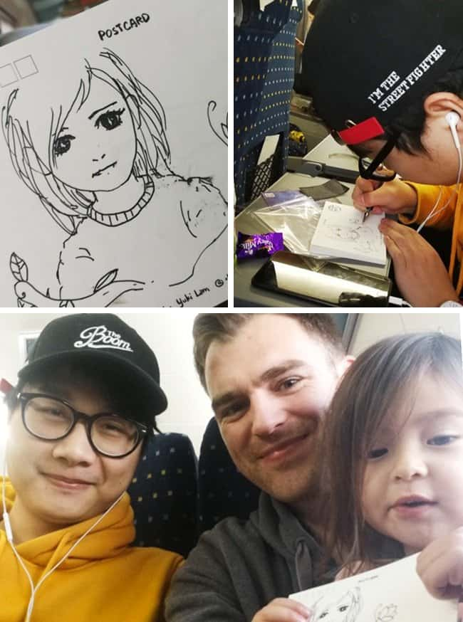 vide-game-animator-draws-little-girl-while-on-a-train-ride