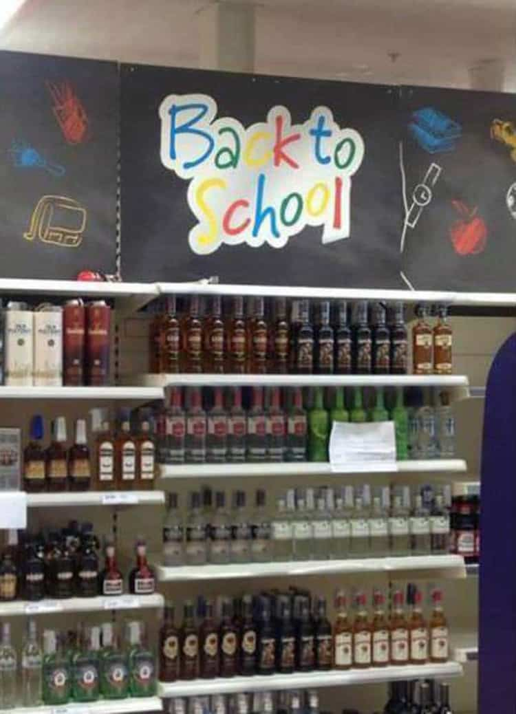 back to school liquor people who epically failed