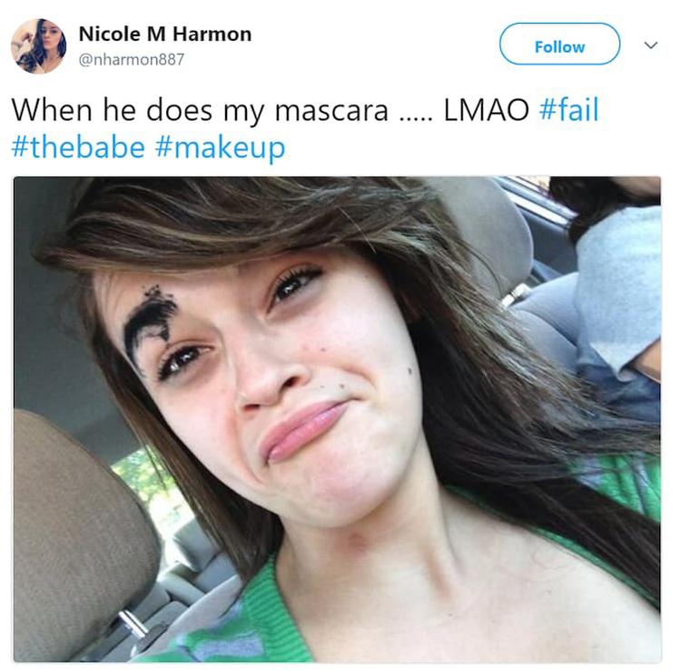 boyfriend-applied-mascara-on-girlfriend-eyebrow-beauty-fails