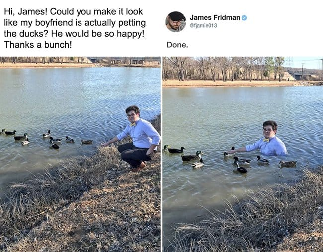 boyfriend-petting-the-ducks-photoshop-troll-master