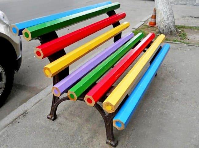 color-pencil-bench