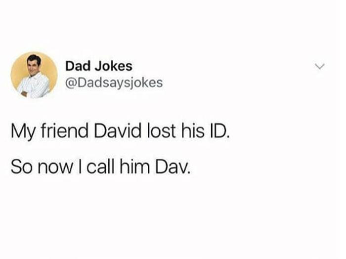 david-lost-his-id