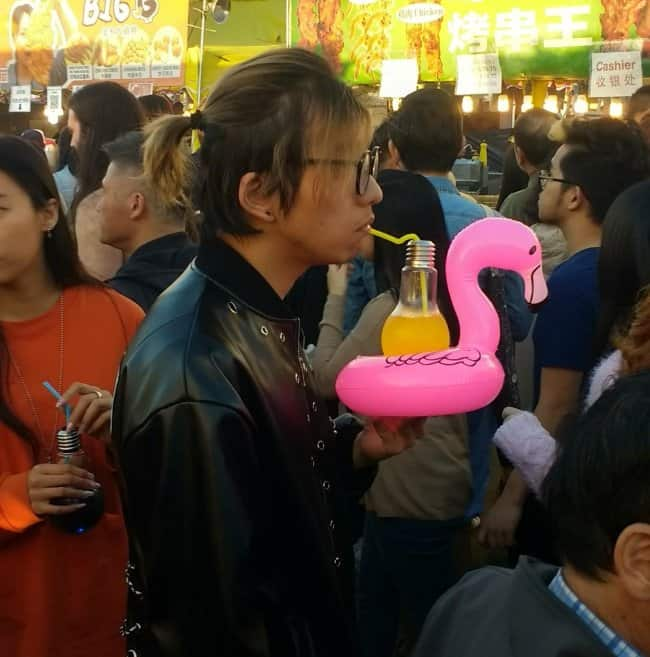 drink-served-in-a-lightbulb-on-a-flamingo-inner-tube