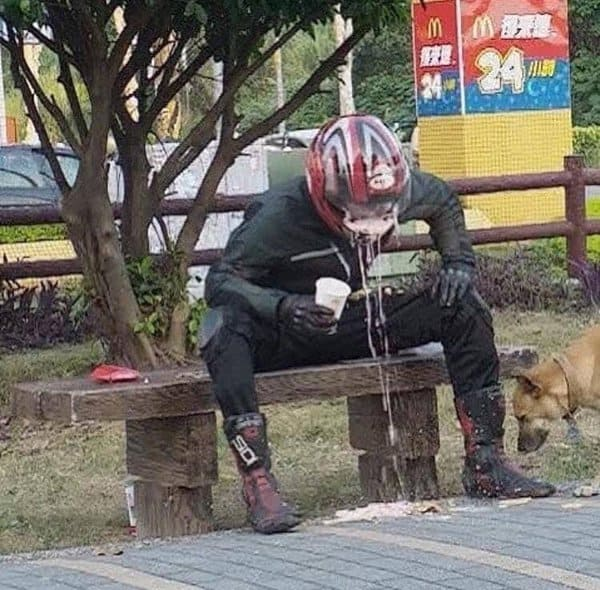 drinking-with-helmet-on-worst-dayof-their-life