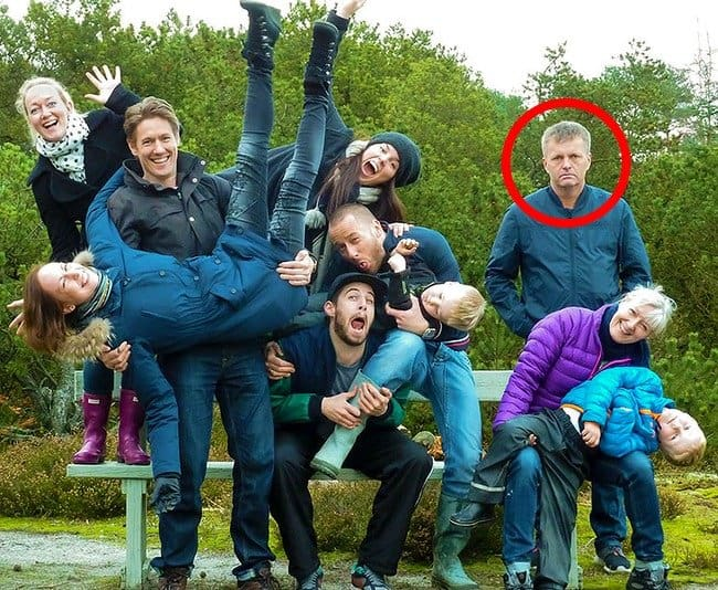 father-looks-unhappy-in-a-wacky-picture-hilarious-family-photos