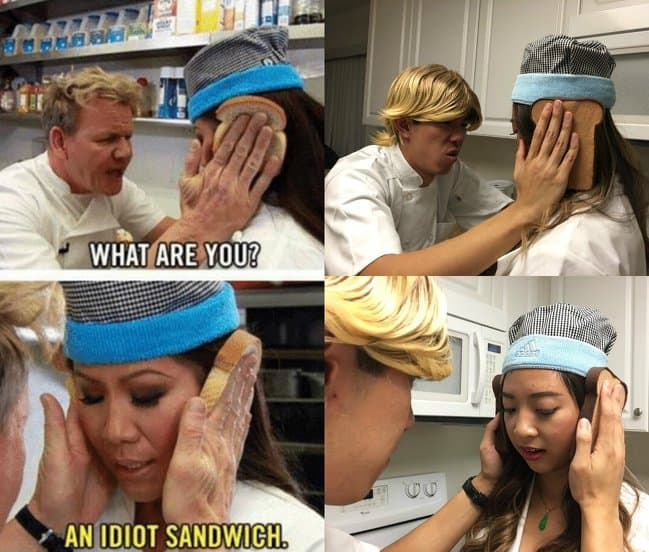 gordon-ramsay-idiot-sandwich-scene-reproduced-clever-mischief-makers