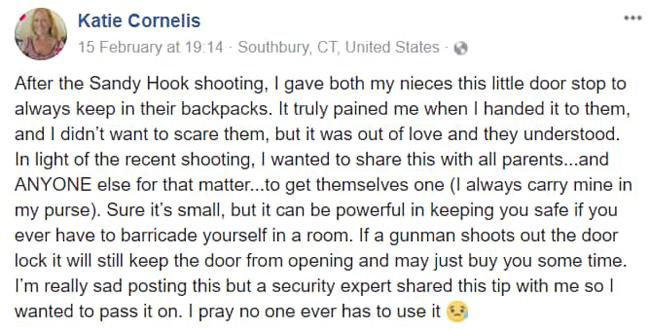 katie-cornelis-facebook-post-how-doorstops-can-save-lives
