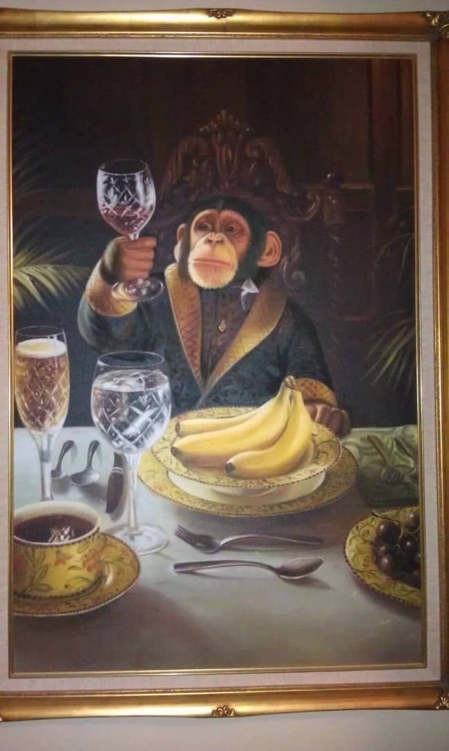 painting-of-a-monkey-drinking-wine