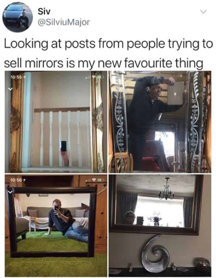 people selling mirrors funny ideas