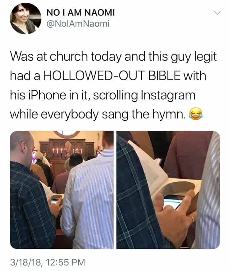 phone-hidden-inside-a-hollowed-bible-funny-people-doing-things-their-way