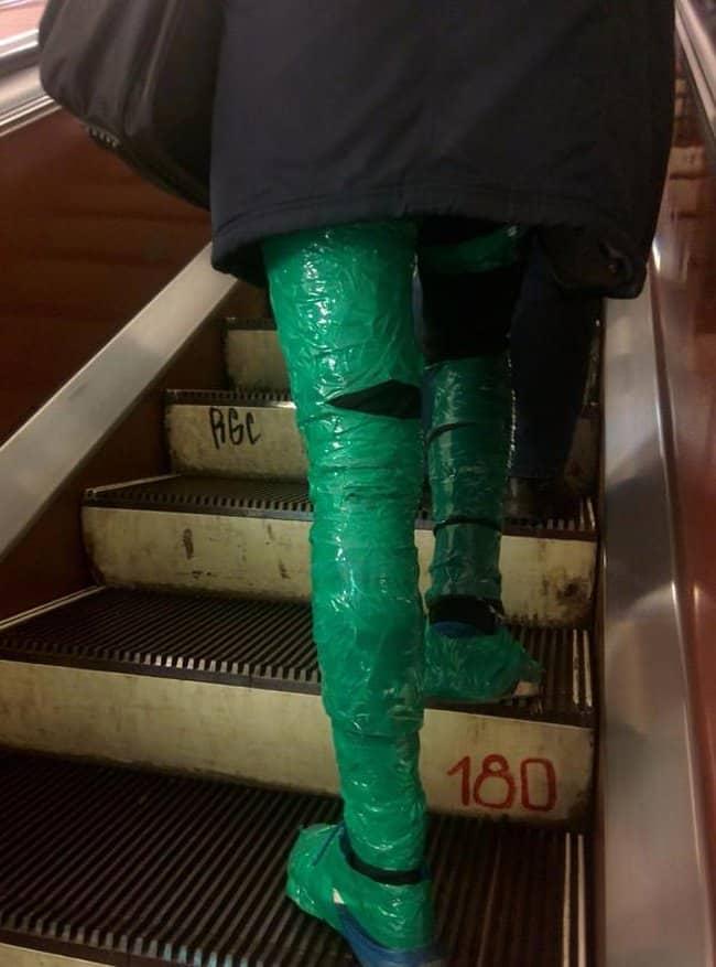plastic-leg-wraps-crazy-fashion-trends