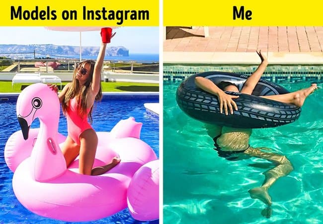 pool-floats-expectation-vs-reality-crazy-ways-to-get-a-perfect-photo