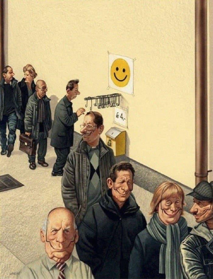 put-on-smile-satirical-illustrations