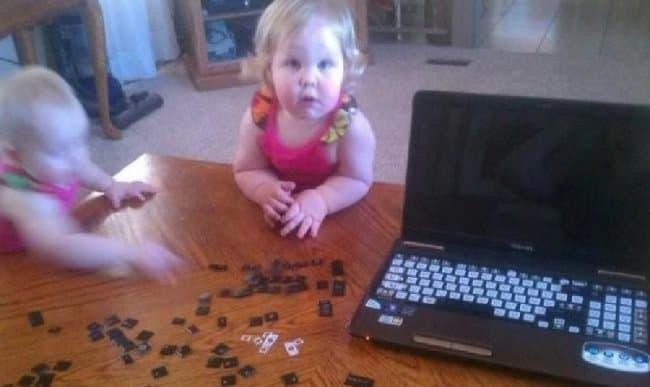 removing-laptop-keyboard-funniest-things-kids-do