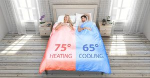 temperature controlling smart duvet