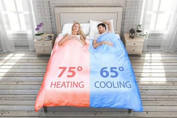 temperature controlling smart duvet
