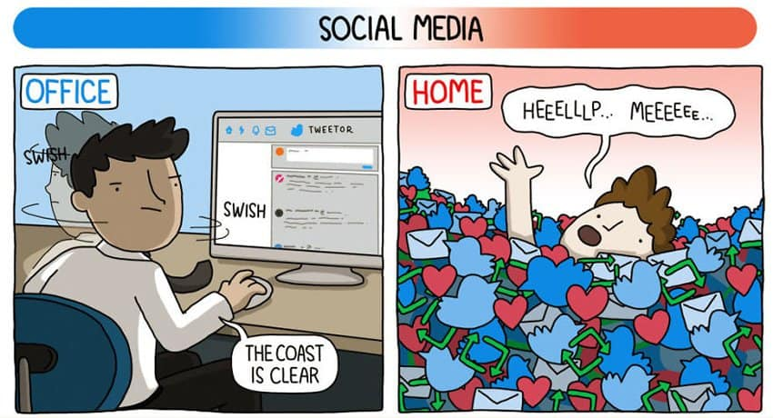 social-media-freedom-home-based-job-vs-office-based-job