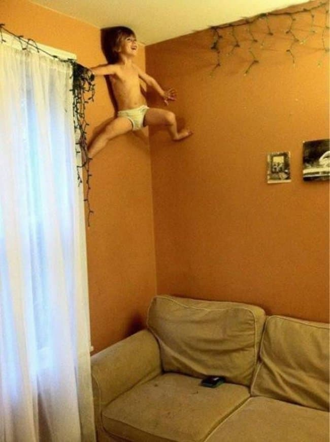 spiderkid-crawling-on-the-wall-funniest-things-kids-do