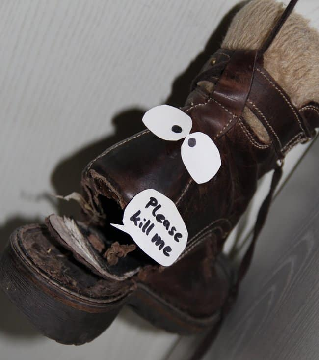 throw-away-those-old-shoes-roommate-pranks