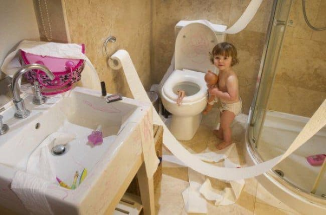 toilet-paper-scattered-all-over-funniest-things-kids-do