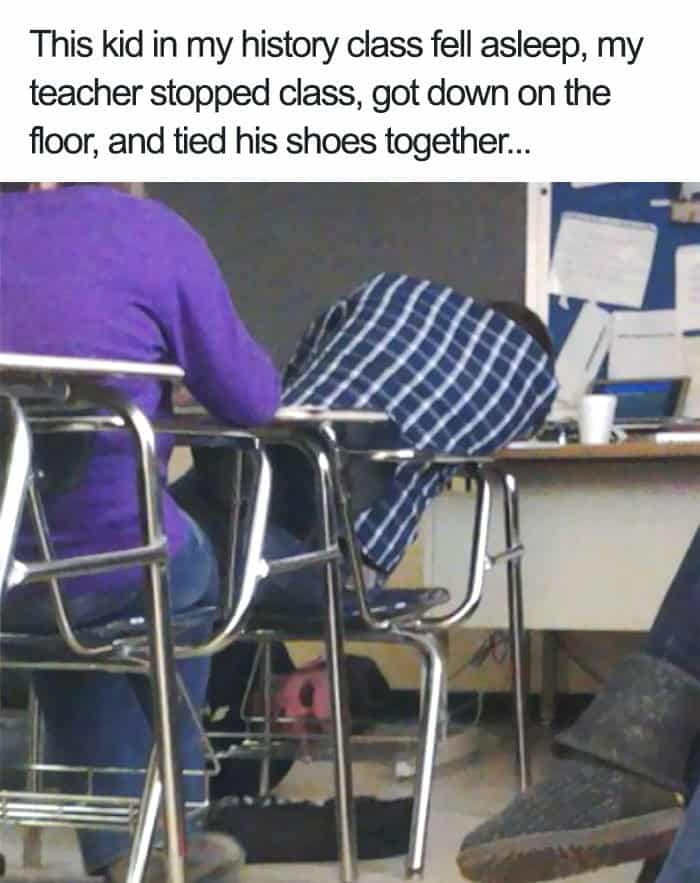 tying-shoelaces-of-a-sleeping-student-teachers-trolling-students