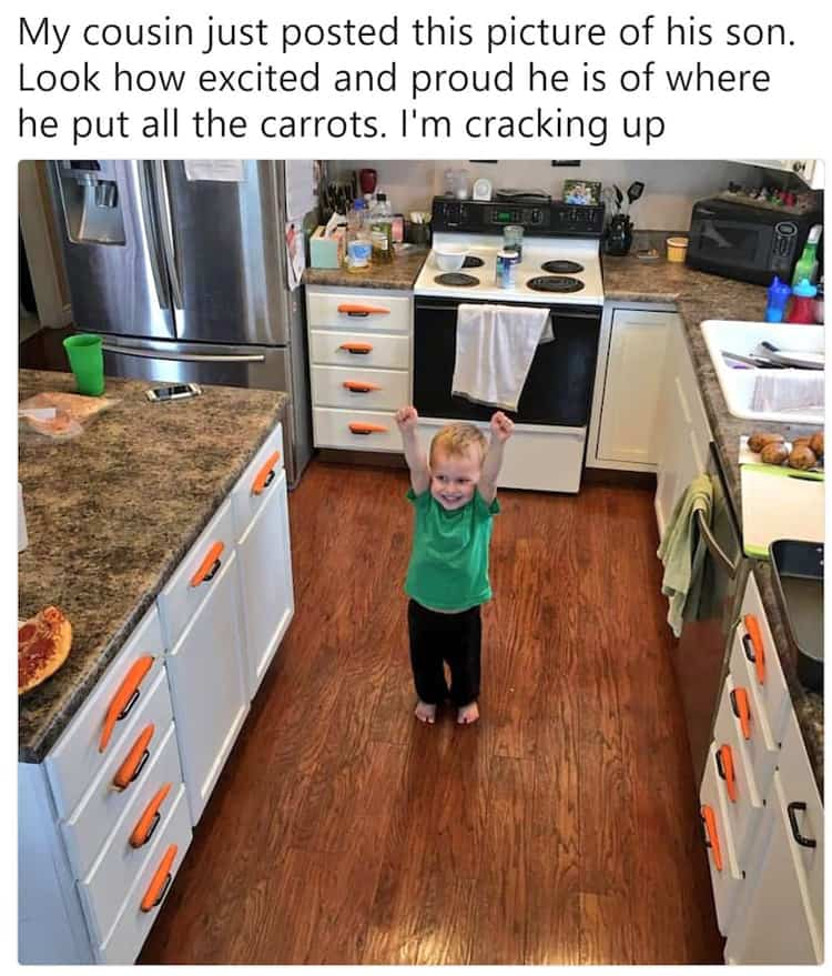victory-for-putting-the-carrots-in-place-funny-kids