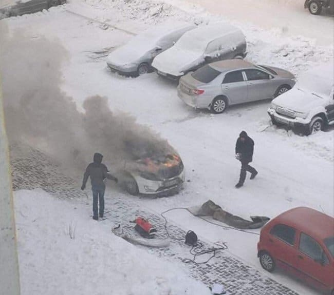 warming-car-in-the-winter-sets-it-on-fire-terrible-unlucky-day