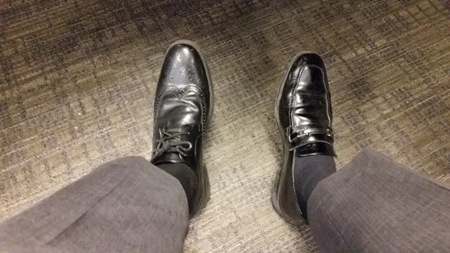 wearing-different-shoes-at-work-terrible-unlucky-day