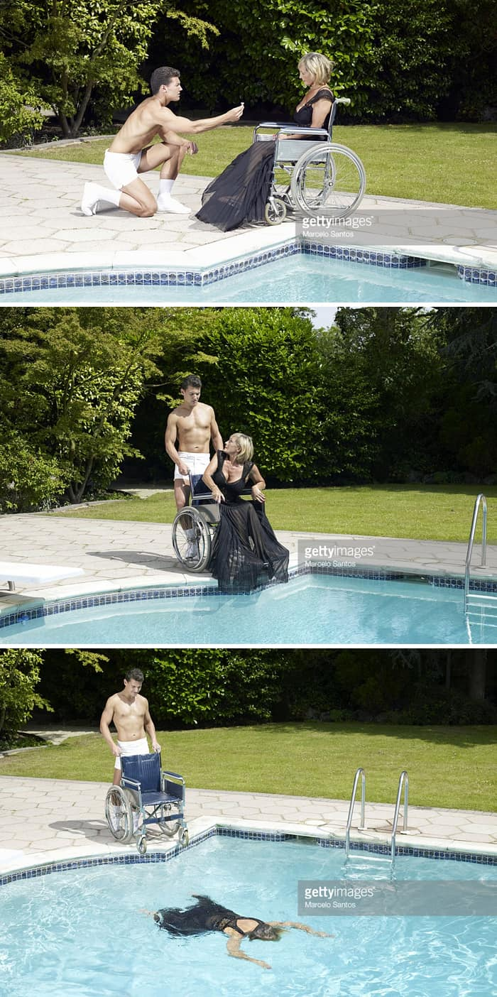 wedding-proposal-man-drops-girl-in-the-pool-weird-stock-photos