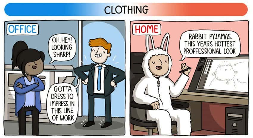 work-attire-home-based-job-vs-office-based-job