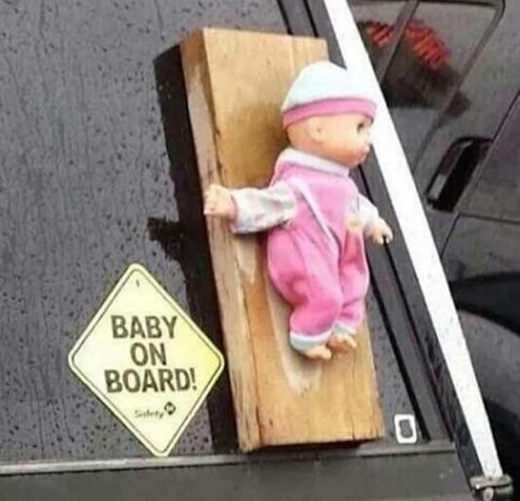 baby on board pun unforeseen hilarity