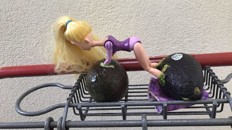 barbie-doll-stuck-in-avocados-weird-things
