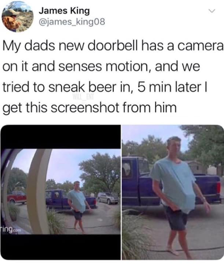 caught-sneaking-beer-by-a-doorbell-camera-photographic-evidence