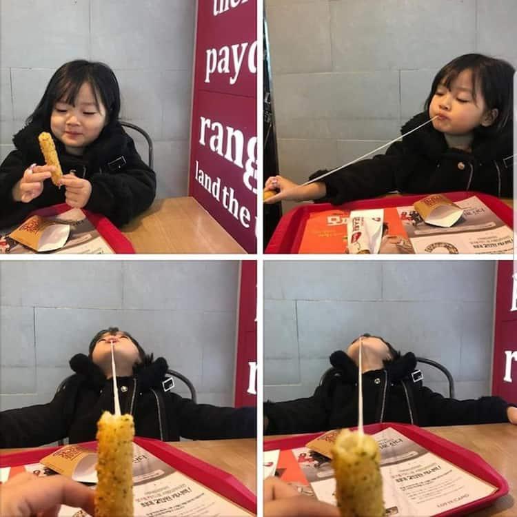 girl-eats-mozarella-stick-funny-random-pics
