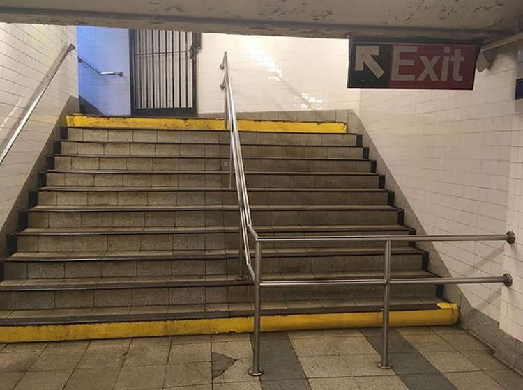handrail-blocks-exit-stair-regrettable-photos
