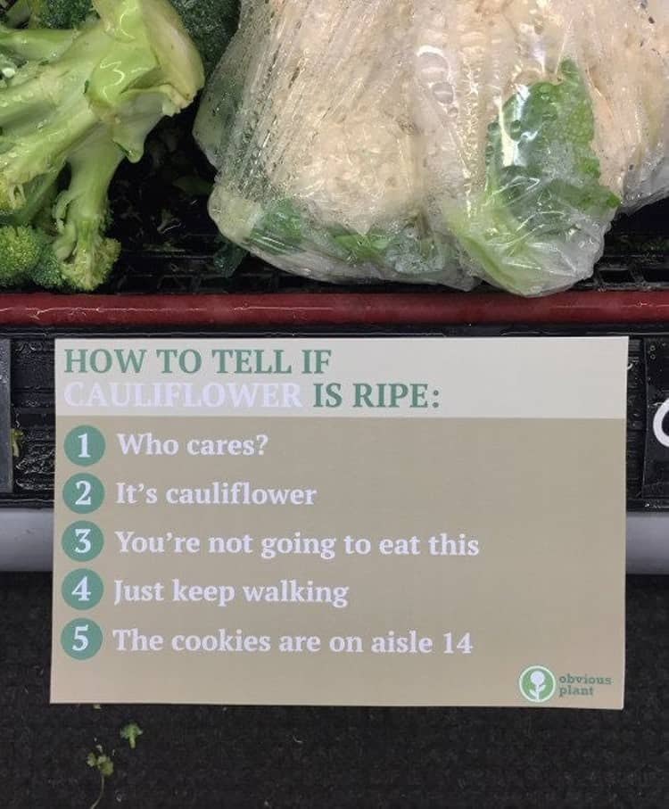 how tell if a cauliflower is ripe brutally honest people