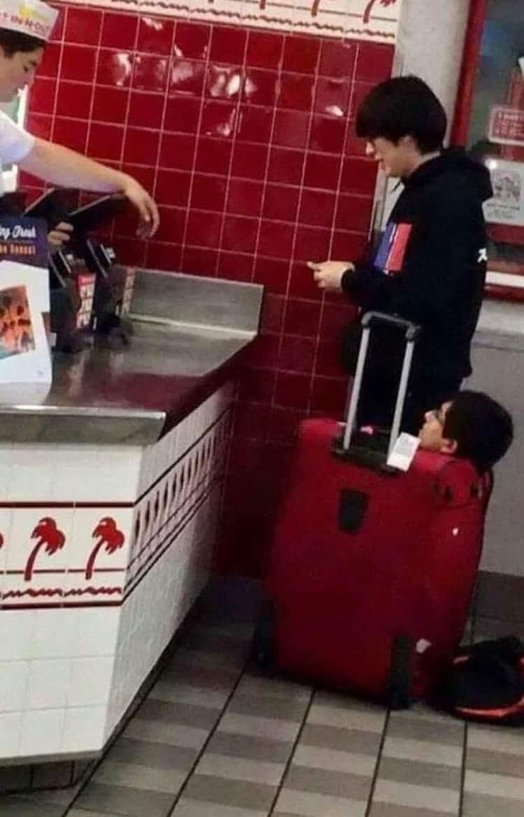 man-in-a-trolley-bag-bizarre-things