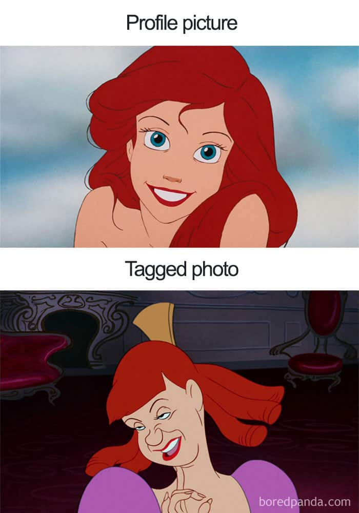profile vs tagged photo hilarious disney jokes