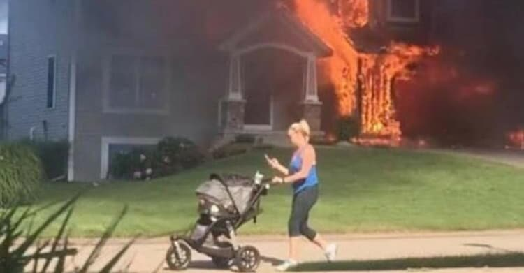 strolling-the-baby-house-on-fire-hilariously-bad-situations